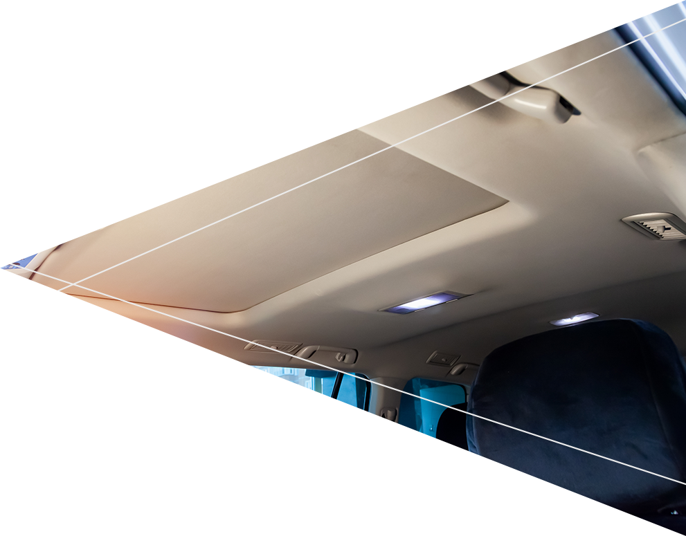 starry car roof interior